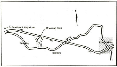 Map of locality around Scarning Dale
